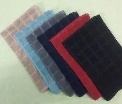 Multicolor Plain Cotton Terry Towel, 180GSM, Size: 40x65cms