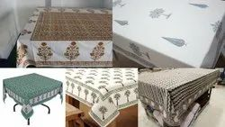 6 Seater Block Printed Table Covers
