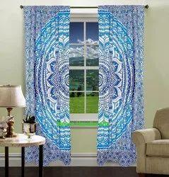 Meera Handicrafts Printed Curtains