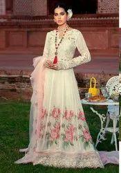 Cotton Unstitched Anarkali Suit, Handwash