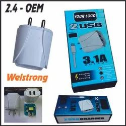 Your Electric 2.4a Dual USB Mobile Charger, Ampere: 2.5