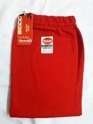 Cotton Fabric Churidar Sachi Red Ladies Leggings