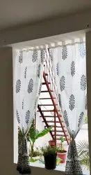 Handmade Beautiful Flower Printed Curtain