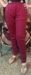 Churidar Plain Woolen Leggings, Size: Free Size