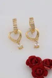 Golden Alloy Fashion Earrings