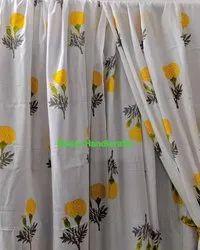 Flower Printed Curtains