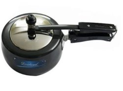 Black Stainless Steel Pressure Cooker, For Home, Capacity: 3 Liter