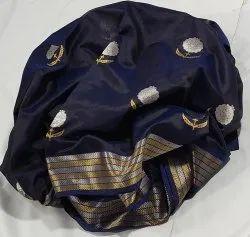 Zari Party Wear Blue Pattu Silk Saree, 5.5 m (Separate Blouse Piece)