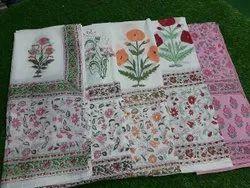 Meera Handicrafts 100% Cotton Hand Block Print Dupatta