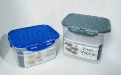 Rishabh Plastic Airtight - Leaktight Storage Containers, Model Name/Number: Stock In, Capacity: 600-2000 Ml