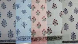 Mughal Flower Printed Cotton Table Covers