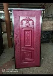Brown Polished Iron Doors, Single, Material Grade: A1