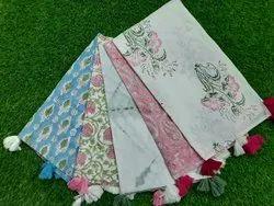 Indigo Hand Printed Cotton Women Scarf Stole