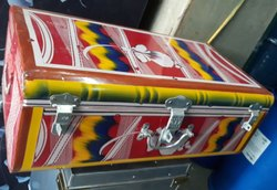Painted Trunk Of Heavy Guage - Steel Boxes