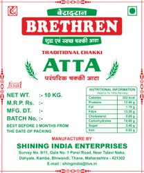 Indian Wheat Flour Chakki Fresh Atta, Packaging Type: Bag