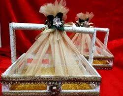 White MDF Wedding Hamper Basket