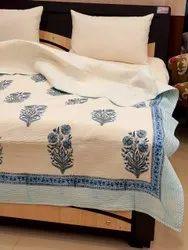 Cotton Mughal Buta Printed Bedcover