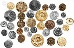 Metal Buttons, For Garments, Packaging Type: Packet