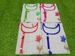 Casual Wear Straight Khadi Cotton Kurti, Size: XL, Wash Care: Handwash