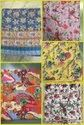 Bird Printed Kantha Bed Cover