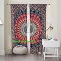 Mandala Tapestry Printed Curtains