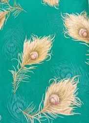 PVC Green Feather design wallpaper, Size: 1 Roll 57 Square Feet