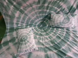 Blue Cotton Tie dyed bedsheet, For Home, Size: 90*108