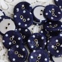 Eyelet button and Fabric Covered