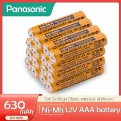 Panasonic Battery HHR-65AAAB 1.2V Ni-MH 630mAh AAA Rechargeable Batteries