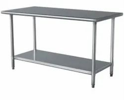 Fully S.s Silver Stainless Steel Working Table