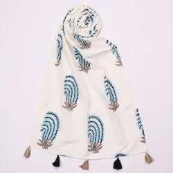 Meera Handicrafts Cotton Printed Women Stole Scarf