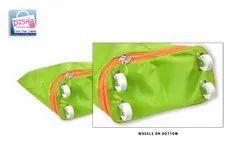 500 X 500 Deniar Fabric Plain Foldable Shopping Bag With Wheels, Capacity: 10kgs, Size: 22