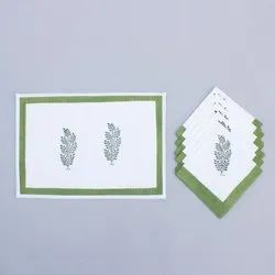 Table Mats Made Of Block Printed Cotton