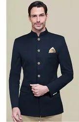 Party Blue Mens Jodhpuri Suit, Size: Large