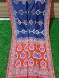 Party Wear veving Pure cotton silk dyeabal saree, 6.50 m (with blouse) piece)