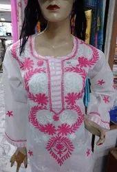 Multicolor Cotton Chikan Salwar Suit