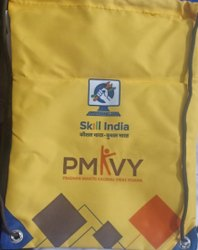 PMKVY String, Drawstring, Printed Bag