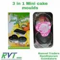 Alloy 3 In 1 Mini Cake Moulds, For Baking