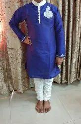 Silk Blue Kids Ethnic Wear