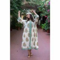 Lady Printed Kaftan By Meera