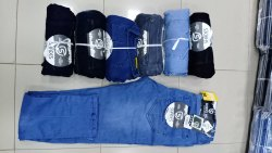 Button Blue Mens Balloon Fit Denim Jeans