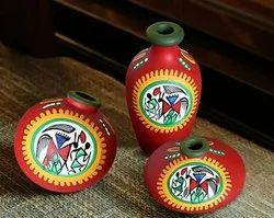 Multicolor Tribal Christmas Gifts Return Gifts Tabletop Home Decoration Dry Flowerpots, Packaging Type: Babble Wrapping