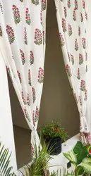 Beautiful Multicolour Buta Print Curtain