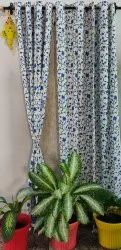 Hand Block Printed Cotton Curtain