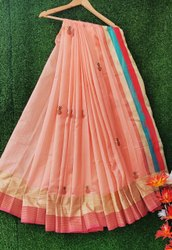 Cotton Silk Embroidery Sarees