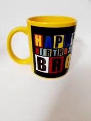 Yellow Colour Customize Mug