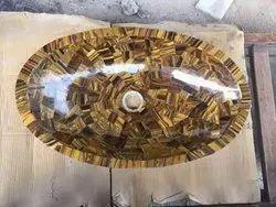 Wall Mount Oval Marble Vessel Sink