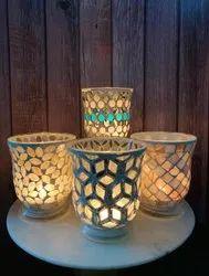 Mosaic Vas  Glass Candle Holder