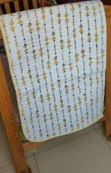 Yellow Chips Lining Hand Block Printed Baby Quilt