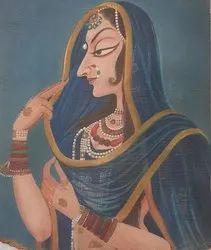 Bani thani oil canvas painting